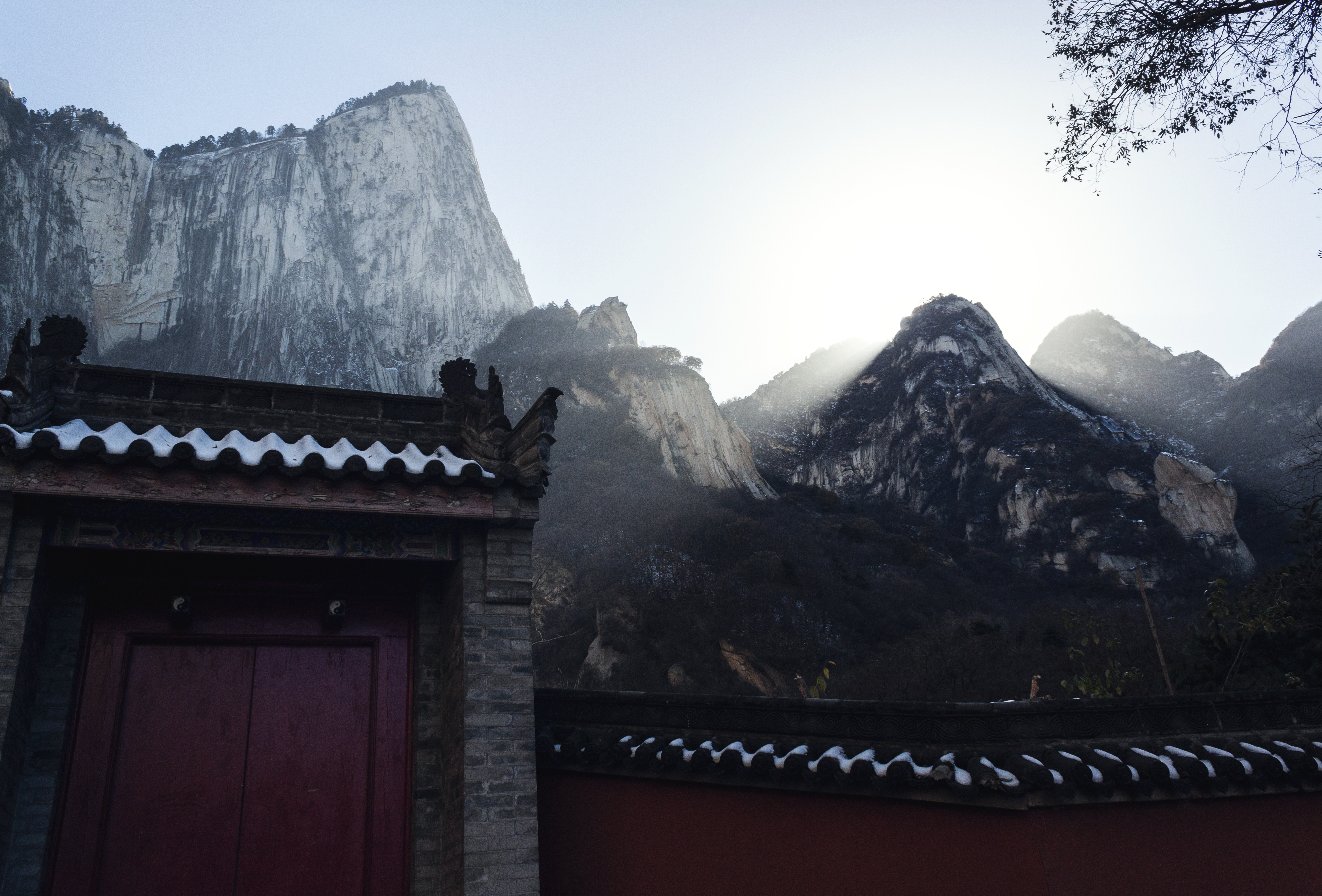 Golden Light over Huashan